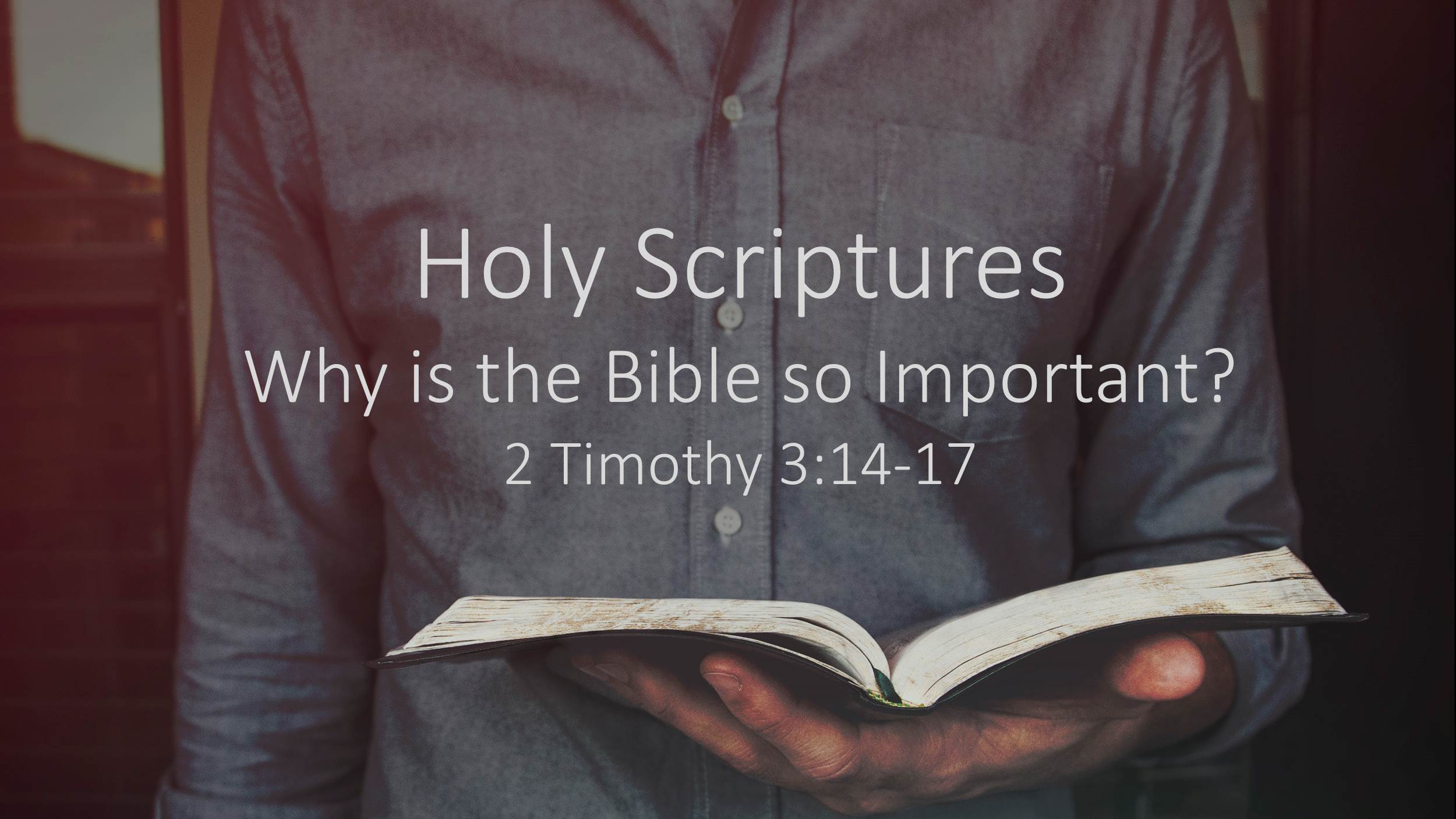 Holy Scriptures:  Why is the Bible so Important? (3/4/18)