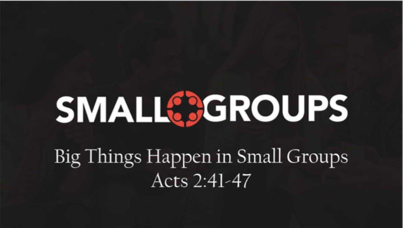 Big Things Happen in Small Groups